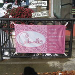 The entrance to Cakewalk Bakery