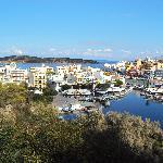 View of the harbour Agios Nikolaos