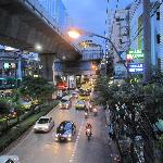 Sukhumvit Road and the BTS - a 10 minute walk from the hotel