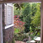 View of the garden from the breakfast room