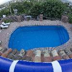 piscina dalla terrazza