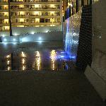 cascada de la piscina superior