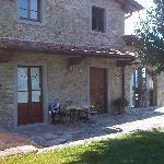 The back terrace of Villa Bruno