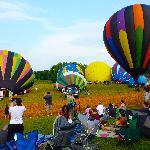 The balloon festival is spectacular