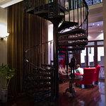 Reception area staircase