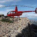 Mountain landing for a picknic