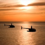 Sunset helicopter flights
