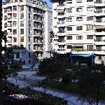 View from balcony at Zaragoza Plaza