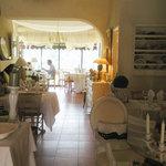 The romantic interior at Restaurant Beau Sejours, Gorbio