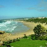 Beautiful Robberg Beach as seen from the Beacon island Hotel
