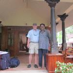 Owner Matthew with my father on front step of hotel