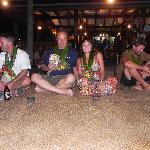 The Kava ceremony.  Kava taste like mud, but drink it!