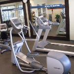 Well Kept Exercise Area with Pool View