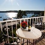 Lakeside views from balcony