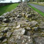 Section of Hadrian's Wall 10 minutes drive from B&B