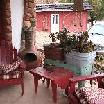 Fun porch for hanging out