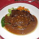 Steak at the French restaurant