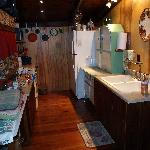 Kitchen - Working Stove, Full-size Frig, All the dishes and cookware you need!