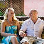 Sitting on the villa terrace