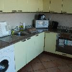Kitchen in the one bedroom apartment