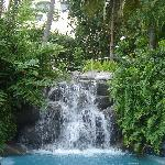 The waterfall from the jacuzzi (they have 3).