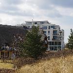 Dünenhäuser und Hotel