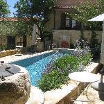 Internal yard & Pool view