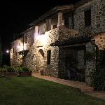 Villa San Crispolto at night