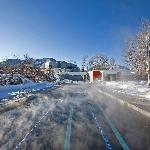 Year-round heated saline pool and hot tub, the property also boasts a full scale health club wit
