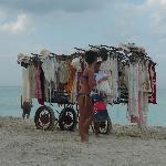 Shopping on the beach