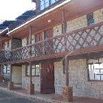 The lovely wooden front of Kikuyu Lodge