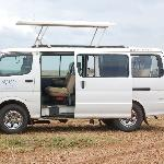 Our safari van! Could stand and get a great view of the animals out the roof.
