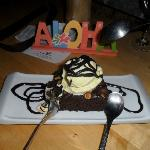 Yummy chocolate brownie with icecream