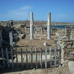 These beautiful blue and white columns are in the house just near the House of Cleopatra.
