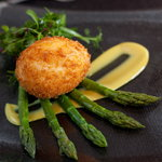 Deep Fried Duck Egg & Asparagus