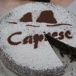 A fresh, yummy Torta Caprese for breakfast!