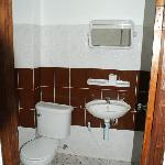 western toilet with mirror