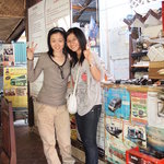 Chhorpoan, Happy Guesthouse's friendly owner (right)