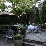 Dining on the Garden Patio