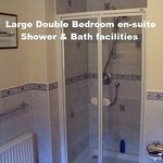 Front Double en-suite shower & bath facilities