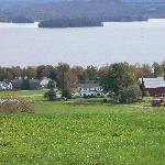 "From""The Pond"" Cliff Haven Farm B&B and Lake Memphremagog"
