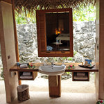 Beach bungalow open bathroom