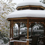 The gazebo from our windown after 10 inches of snow
