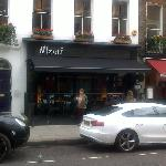 One of many restaurants in busy Charlotte St