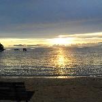 6.30 am, the sun coming up over beautiful  Kaiteriteri beach