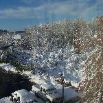 View from our window the morning after the storm