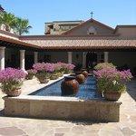 Courtyard outside the spa