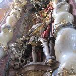 altar St. Michael as dragonslayer