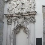 tympanum of the former entrance