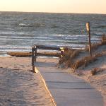 Skakel Beach across the road